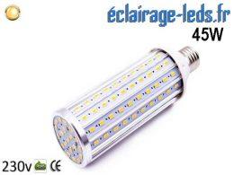 Ampoule LED E27 maïs 45W Blanc chaud 230v