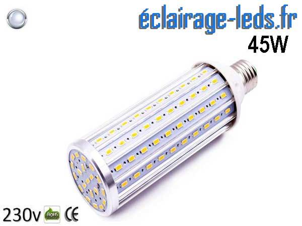 Ampoule LED E27 maïs 45W Blanc froid 230v