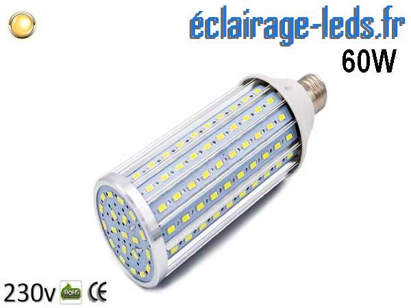 Ampoule LED E27 maïs 60W Blanc chaud 230v