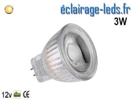 Ampoule led MR11 3W 220lm blanc chaud 36° 12v
