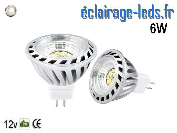 Ampoule led MR16 6w 520LM blanc naturel 45°