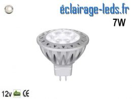 Ampoule led MR16 7*1w blanc froid 6000K 12v