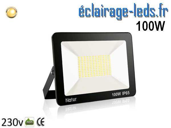 Projecteur LED extérieur 100w IP65 blanc chaud 230v