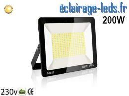 Projecteur LED extérieur 200w IP65 blanc chaud 230v