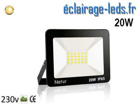 Projecteur LED extérieur 20w IP65 blanc chaud