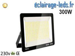 Projecteur LED extérieur 300w IP65 blanc chaud 230v