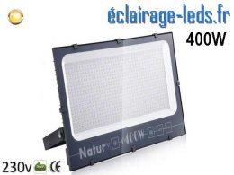 Projecteur LED extérieur 400w IP66 blanc chaud 230v