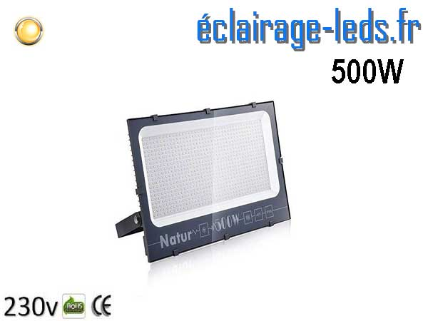Projecteur LED extérieur 500w IP66 blanc chaud 230v