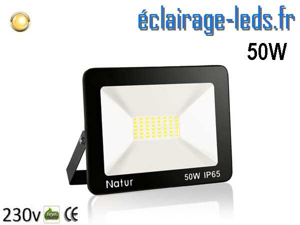 Projecteur LED extérieur 50w IP65 blanc chaud 230v