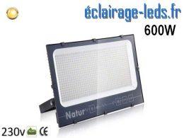 Projecteur LED extérieur 600w IP66 blanc chaud 230v