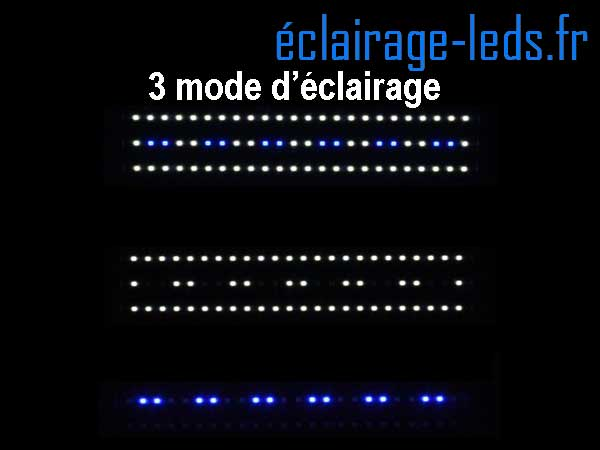 Rampe LED 18W étanche IP67 pour Aquarium Blanc et bleu