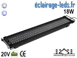 Rampe LED 18W Aquarium Blanc et bleu 60-80cm 20V