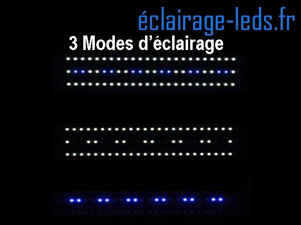 Rampe LED 60W étanche IP67 pour Aquarium Blanc et bleu 120-150cm