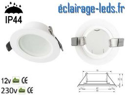 Spot LED encastrable IP44 blanc