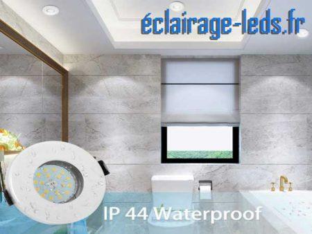 Spot LED GU10 étanche spécial salle de bain