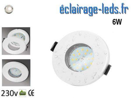 Spots LED GU10 étanche blanc naturel IP44