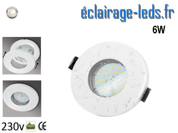 Spots LED GU10 étanche blanc naturel IP44