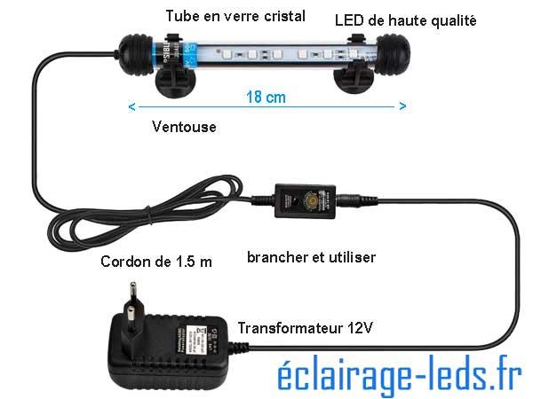 Tube LED RGB 1.5W 18cm