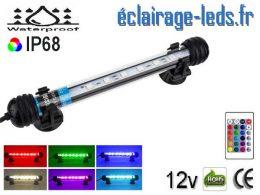 Tube LED RGB 1.5W Submercible 18cm Aquarium 12V