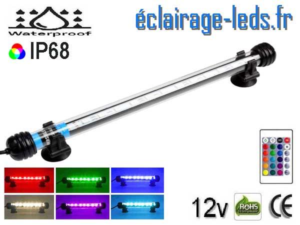 Tube LED RGB 3W Submercible 28cm Aquarium 12V