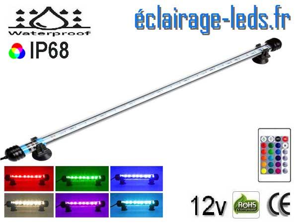 Tube LED RGB 4W Submercible 38cm Aquarium 12V