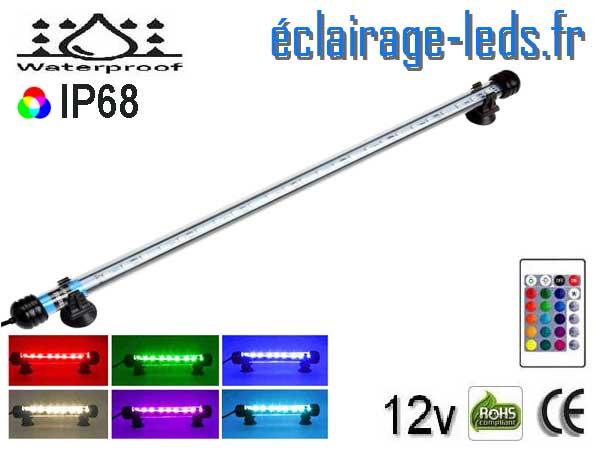 Tube LED RGB 5W Submercible 48cm Aquarium 12V
