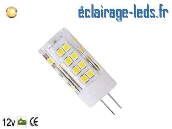 Ampoule led G4 5w SMD 2835 blanc chaud 3000K 12v