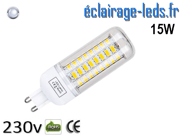 Ampoule LED G9 15w blanc froid 1000LM 230v