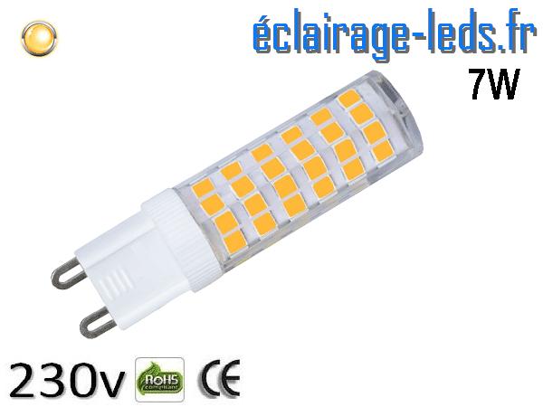 Ampoule LED G9 7w smd 2835 blanc chaud 230v