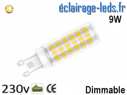 Ampoule LED G9 dimmable 9w blanc chaud 230v