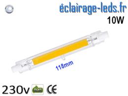 Ampoule LED R7S COB 10W blanc froid 118mm 230v