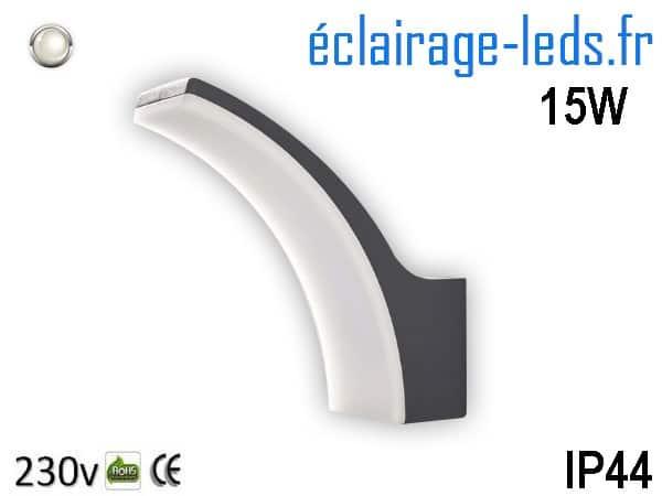 Applique mural LED extérieur IP44 blanc naturel 230v