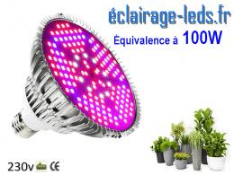 Ampoule LED E27 Horticole 20w plein spectre 230V