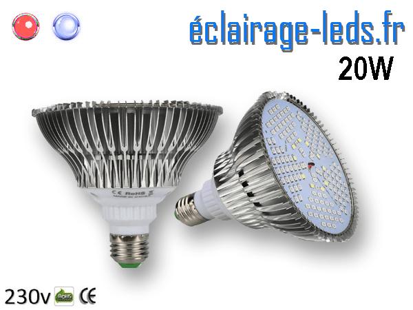 Ampoule LED E27 Horticole 20w