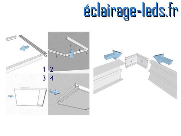 Cadre dalle LED 300x300 mm en saillie