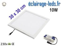 dalle LED Blanc naturel 10W 300x300 mm 230v