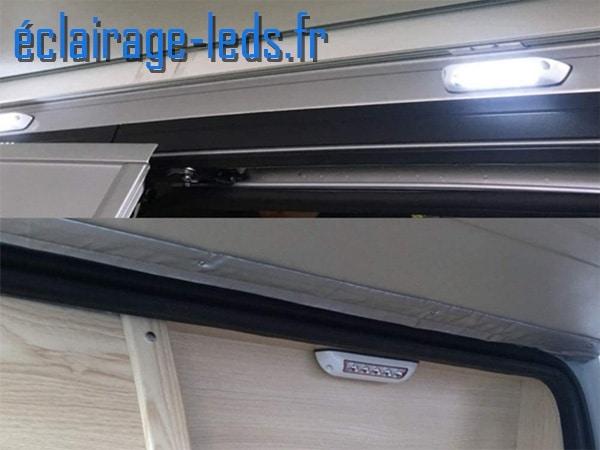 Eclairage led auvent 2W pour camping car & bateaux 6000k