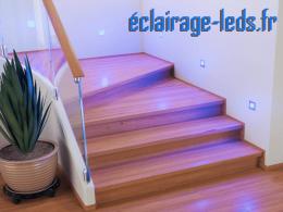 kit support LED Chrome Sol et Mur bleu