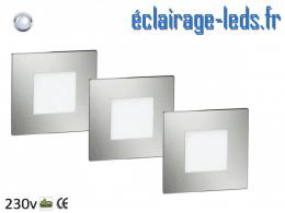 kit support LED Chrome Sol et Mur blanc froid 1W 230v