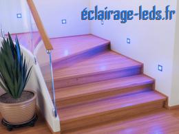 kit support LED Noir Sol et Mur bleu