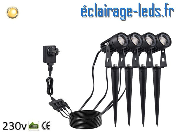 Projecteurs LED sur piqué 5W COB blanc chaud IP65