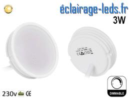 Module LED Ultra plat 3w blanc chaud dimmable 230v