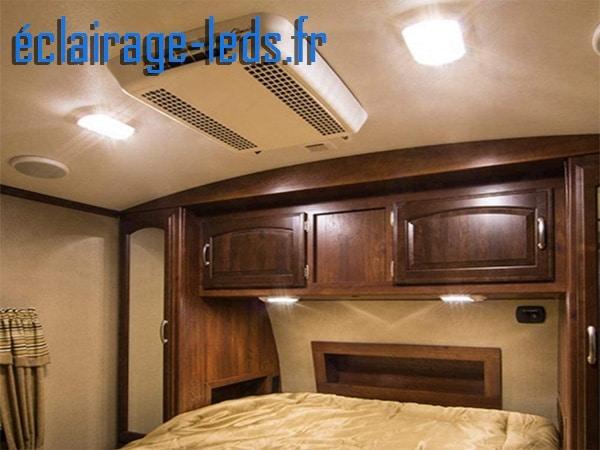 Plafonnier led 3w spécial camping car blanc froid
