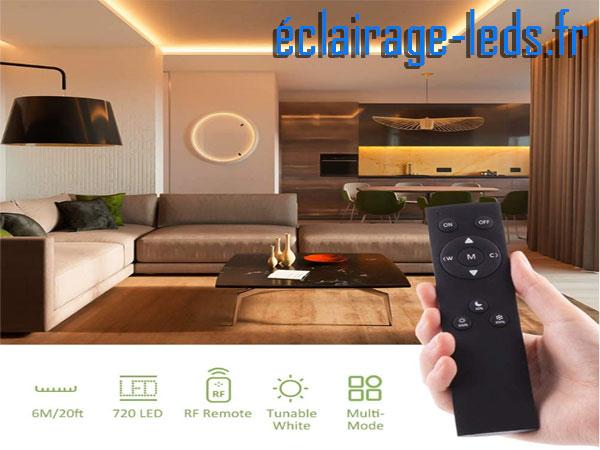 Bandeau LED dimmable 6M 3 modes de couleurs 12v