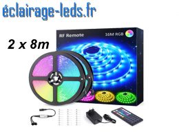 Bandeau LED RGB 16m (2x8m) IP20