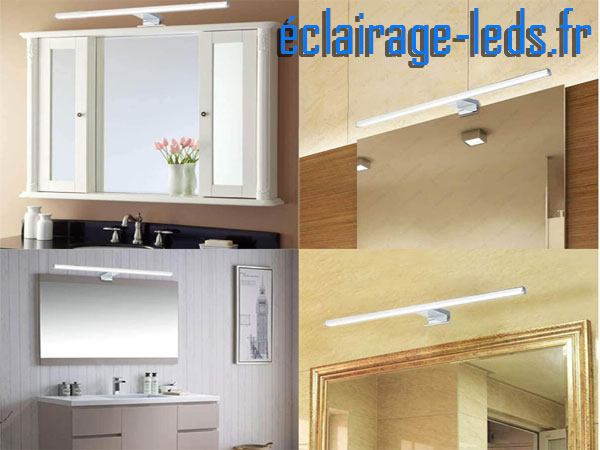 Lampe LED miroir Salle de bain 10W blanc froid 230v