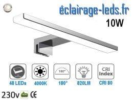 Lampe LED miroir Salle de bain 10W blanc naturel 40cm