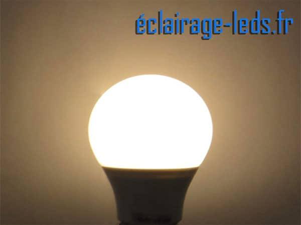 Lot de 3 ampoules LED E27 7W Blanc chaud 12v