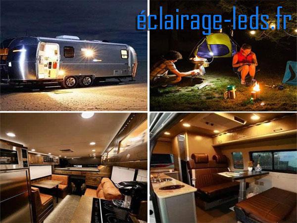 Ampoules LED E27 7W Blanc chaud 12v camping car