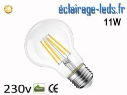 Ampoule led E27 11w COB Filament blanc chaud 2700K 230v